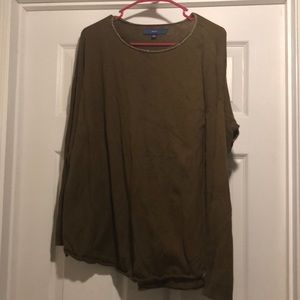 Apt 9 sweater, Sz Large olive green with gold